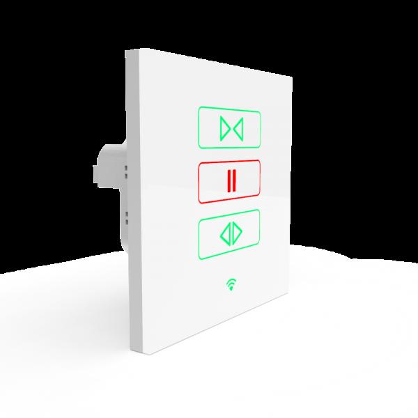 Wi-Fi Akıllı Dokunmatik Perde Panjur Anahtarı Beyaz